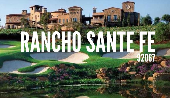Rancho Santa Fe (92067) Richest Zip Codes in California 2016