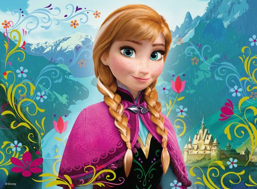 Anna, Frozen World's Most Beautiful Disney Princesses 2016