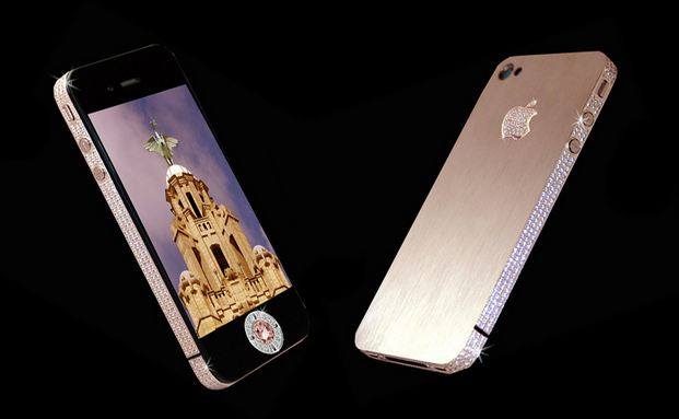 Custom diamond rose IPhone 4, World's Most Expensive Electronic Gadgets 2018