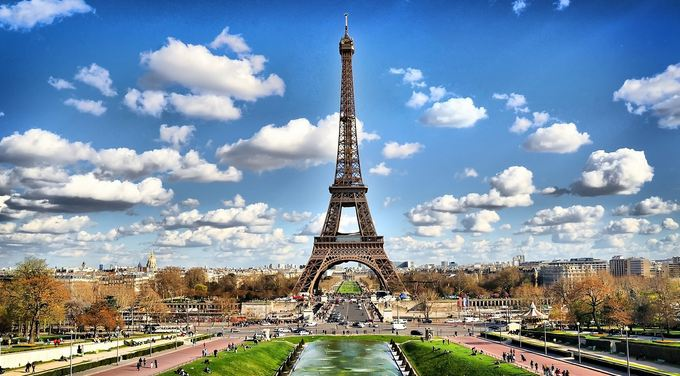 Eiffel Tower and the city of Paris, World's Most Beautiful Places To Visit 2018