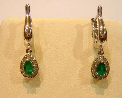 Emerald drop earrings, World's Most Expensive Earrings 2017