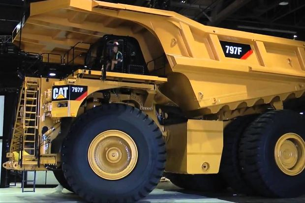 Caterpillar 797F, largest dump trucks 2018