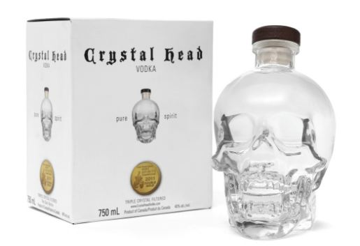 Crystal Head Top 10 most best-selling vodka brands in the world 2018