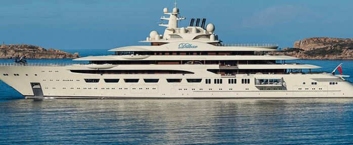 Dilbar, World's Largest Yachts 2018