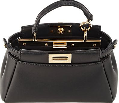 Fendi-Peekaboo large leather-trimmed patchwork calf hair tote