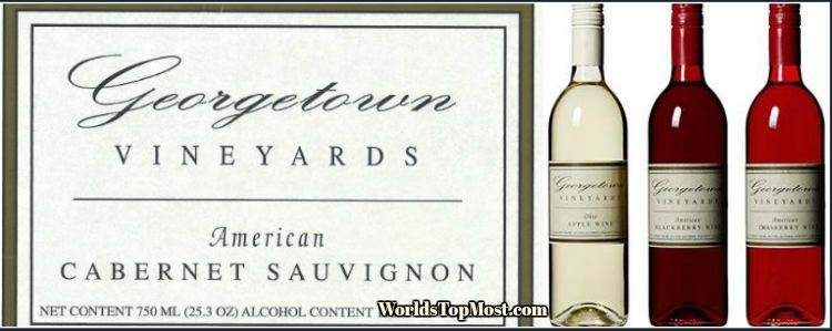 Georgetown Vineyards Cabernet Sauvignon best selling wines 2016-2017