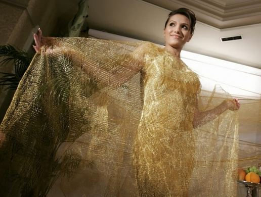Golden evening dresses by Ginza Tanaka, World's Most Expensive Dresses 2016