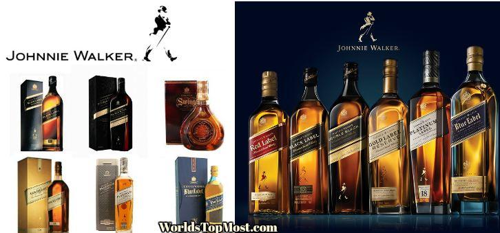 Johnnie Walker top Selling Whiskey Brands 2016