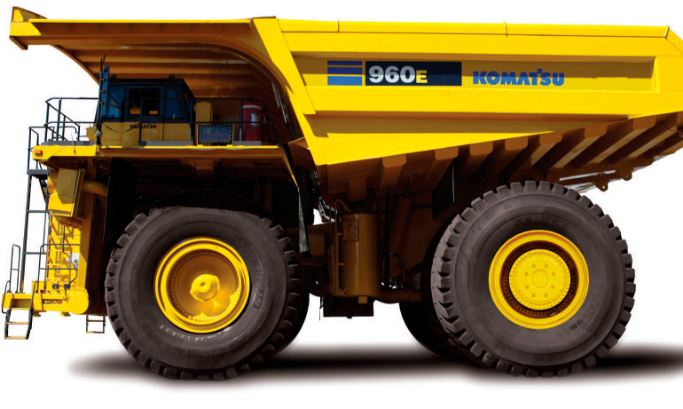 Komatsu 960E-1, largest dump trucks 2016