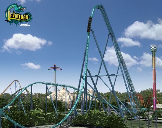 Leviathan 306-Foot Drop Top biggest rollercoaster in the world 2017