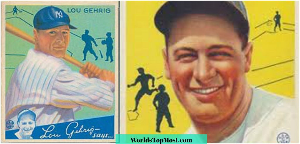 Lou Gehrig expensive baseball cards 2016