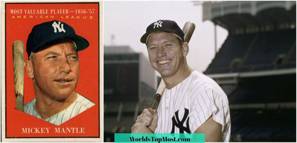 Mickey Mantle expensive baseball cards 2016-2017