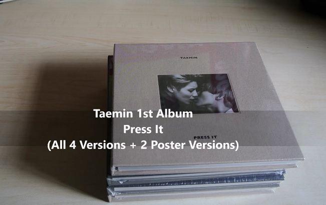 Press It- Taemin Popular Best Selling Kpop Albums 2018