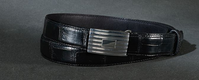 Ralph Lauren Alligator Engine-Buckle Belt, World's Most Expensive Belts 2017