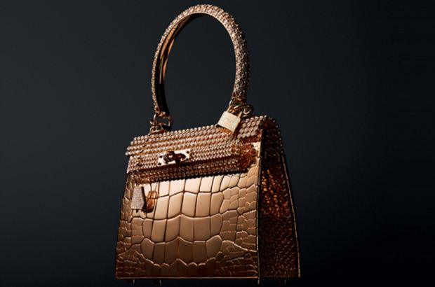The Hermes Rose Gold Diamond Birkin Bag