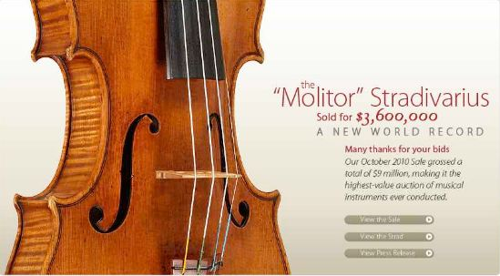 The Molitor Stradivarius, World's Most Expensive Violins 2019