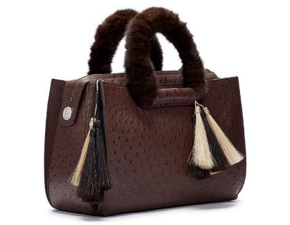 The Row-Classic 5 Ostrich and Mink Tote Top Most popular Expensive Purses in the world 2018