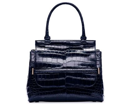 The Row-Top Handle 10 Crocodile Bag, Navy Most popular Expensive Purses in the world 2019