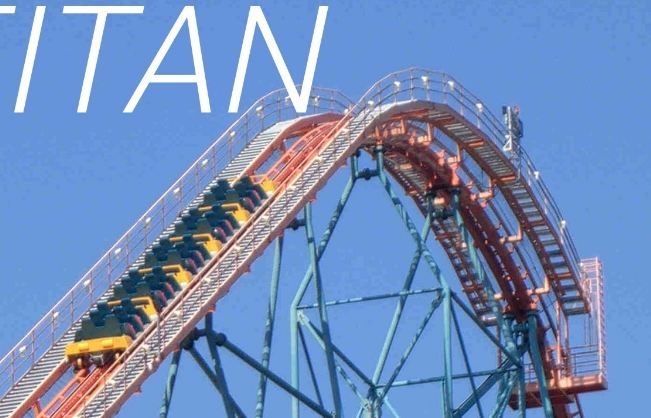 Titan 255-Ft Drop Top popular biggest roller coaster in the world 2018