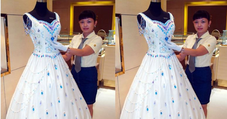 9,999 Carat Gems wedding dress Top 10 Most Expensive Wedding Dresses in The World 2017