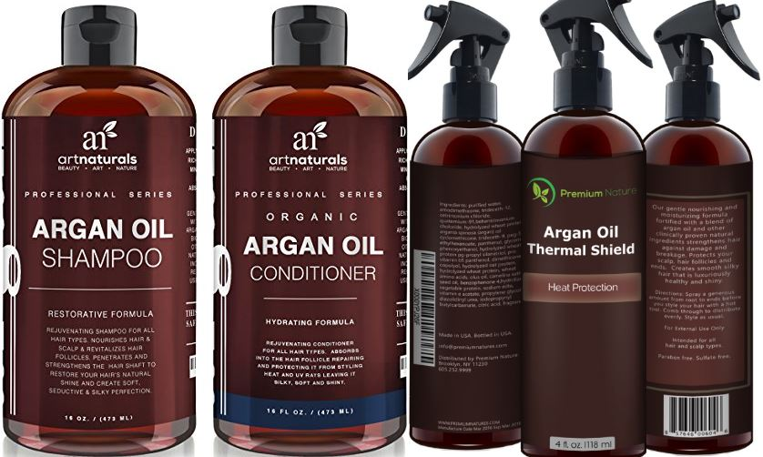 ARGAN OIL HAIR PROTECTOR 100% ORGANIC SPRAY, Top 10 Best Hair Sprays For Fine Hairs 2017