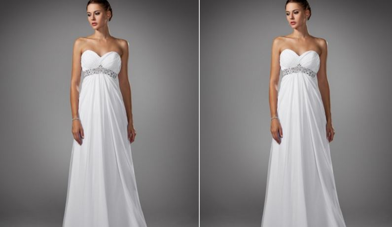 Empire Sweetheart Sweep Train Chiffon Wedding Dress With Ruffle Beading Top 10 Best Selling Wedding Dresses