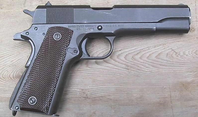 M1911 Browning Pistol, Top 10 Most Dangerous Guns in The World 2019