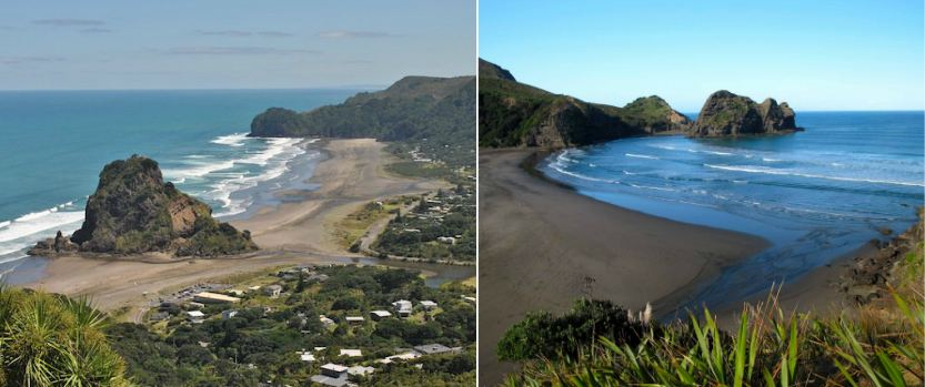 piha beach, Top 10 Most Beautiful Black Beaches in The World 2018