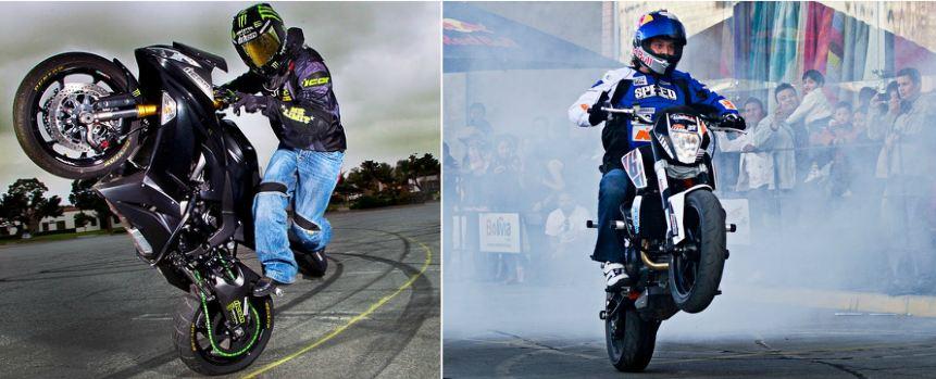 stunt-riding