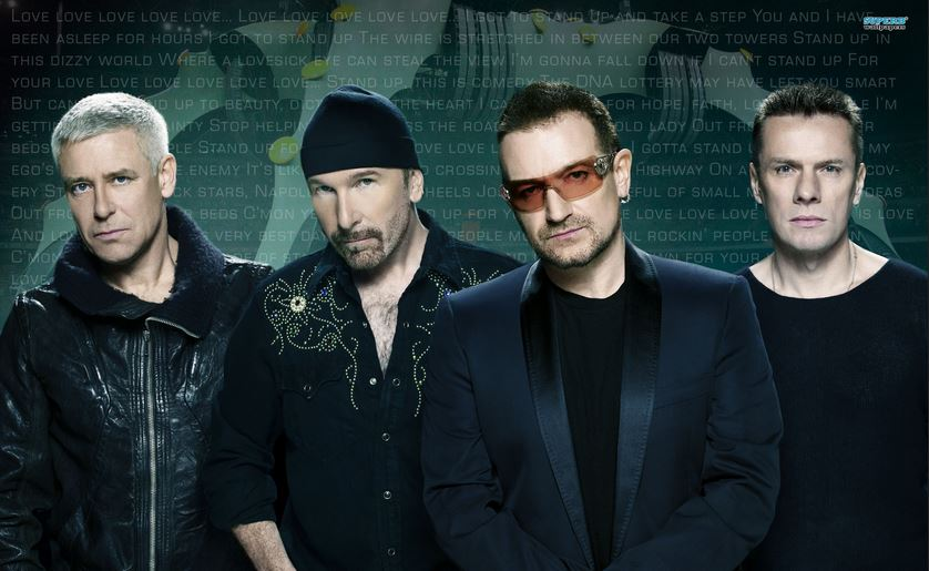 u2, Top 10 Highest Earning Male Musicians in The World 2017