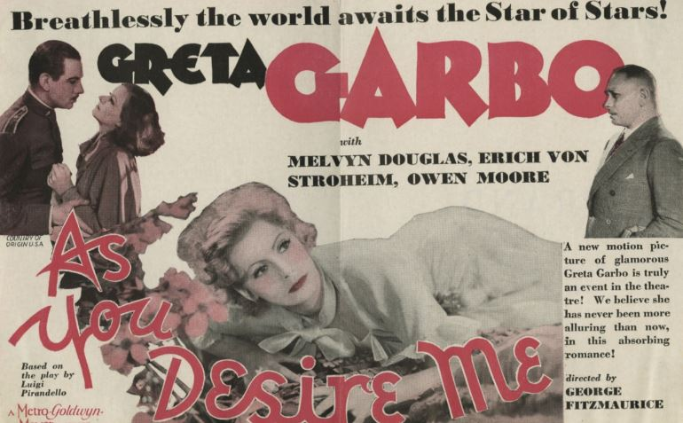 As You Desire Me Top Most Popular Movies by Greta Garbo 2019