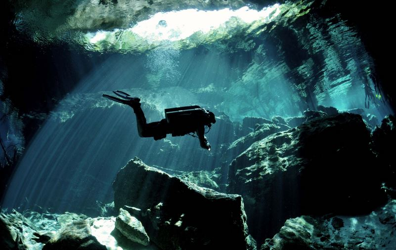 cave-diving