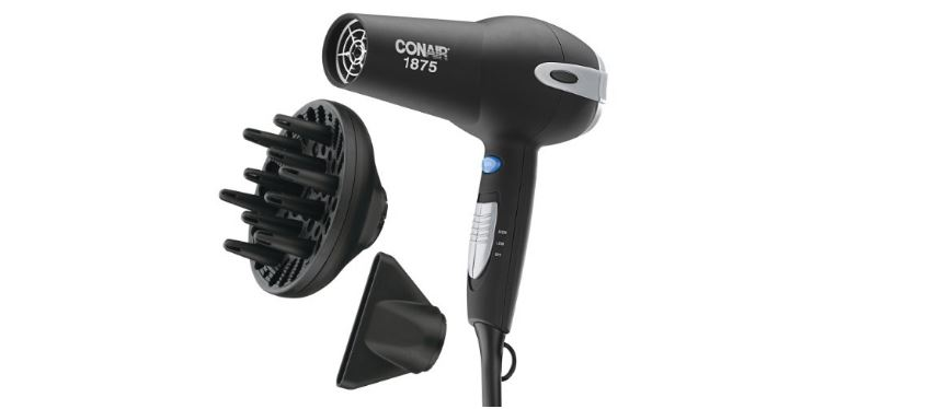 Conair 1875 Watt Tourmaline Ceramic Hair Dryer, Top 10 Best Hair Dryers For Women 2017
