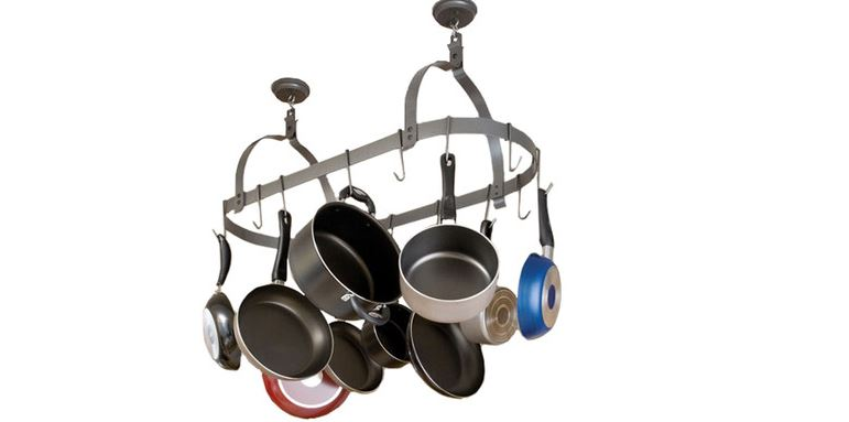 Enclume Rack-it-up Oval Ceiling Pot Rack Top Most Famous Hanging Pot Racks Reviews in The World 2019