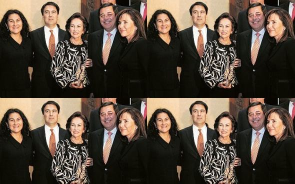 Iris Fontbona and family
