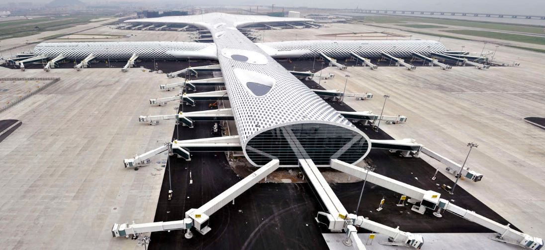 Shenzhen international airport terminal Top 10 Most Glamorous Buildings in The World