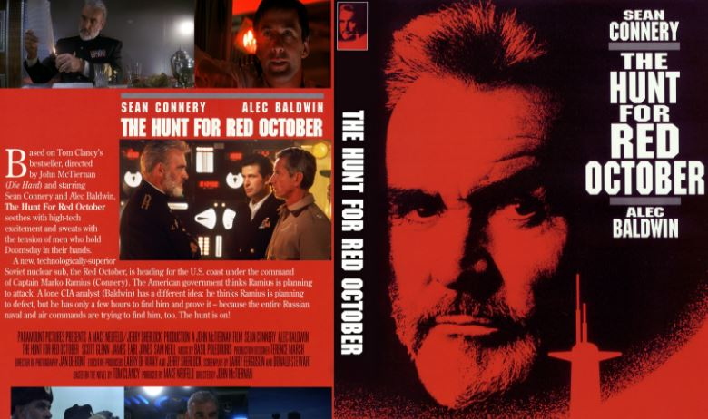 The Hunt For Red October Top 10 Movies by Sean Connery