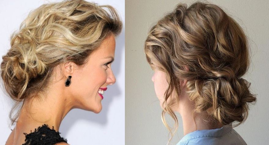 The Low Curled Updo, Top 10 Best Bridal Hairstyles 2018