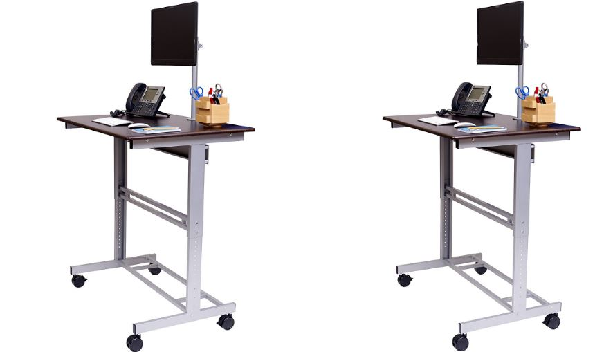 "40"" Mobile Adjustable Height Stand Up Top Famous Standing Desks Reviews in 2018"