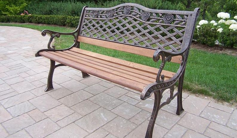 Cast Iron Outdoor Patio Bench