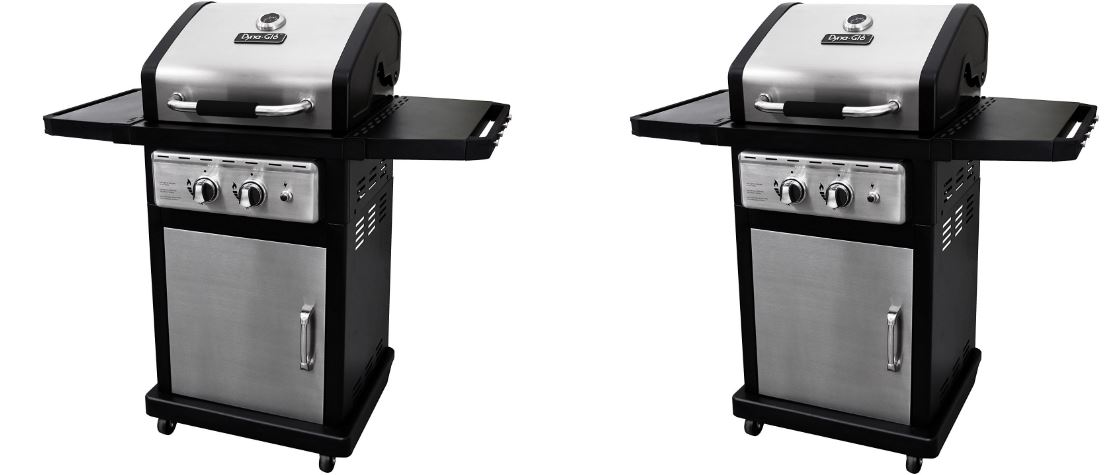 DYNA-GLO Black Stainless Premium Liquid Propane Gas Grill