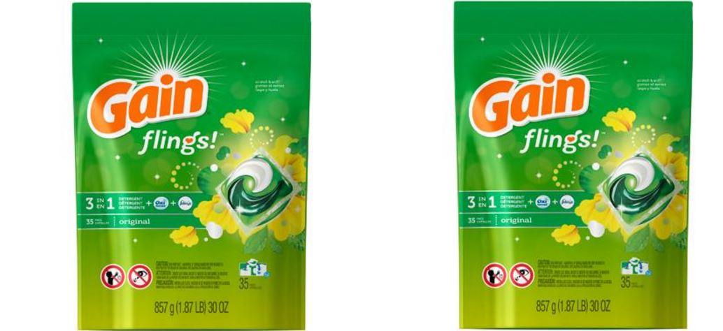 Gain Flings Original Laundry Detergent effective