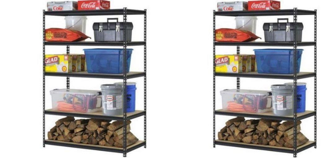 Garage Storage Shelves Heavy Duty with Adjustable Steel 5 Shelf Metal Racks