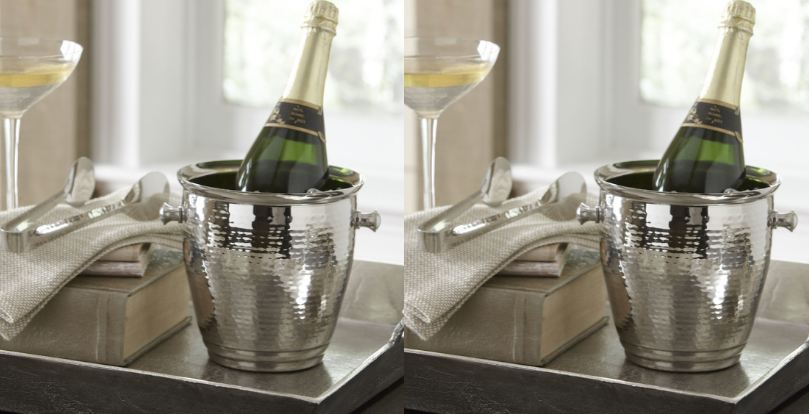 Hammered Stainless Steel Ice Bucket Top Popular Selling Ice Bucket