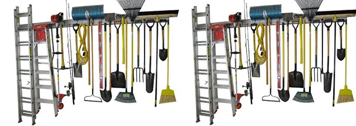 Holeyrail, Garage Organizer, 8 Feet industrial quality
