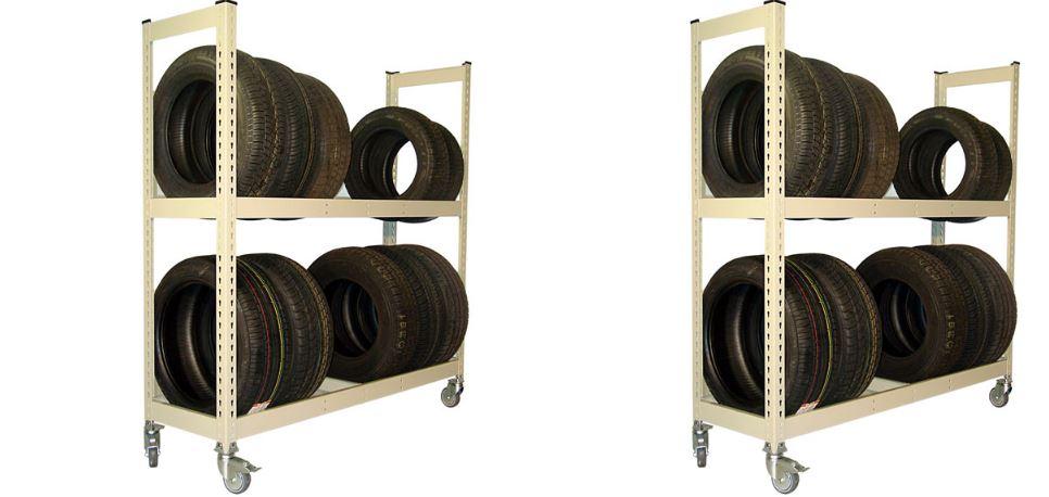 Metal Point 2 Tire Storage Rack