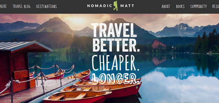 Nomadic Matt Top 10 Best Travel Blogs In 2017