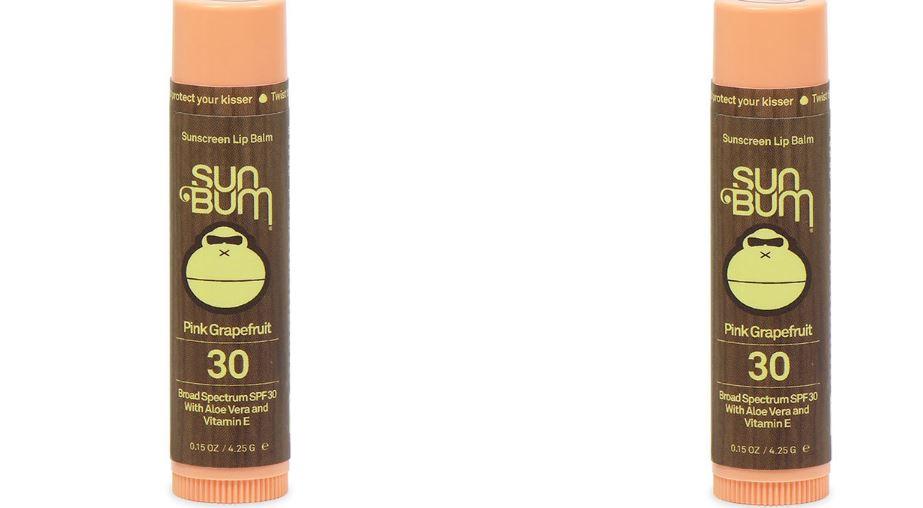 Sun Bum SPF 30 Lip Balm, Pink Grapefruit