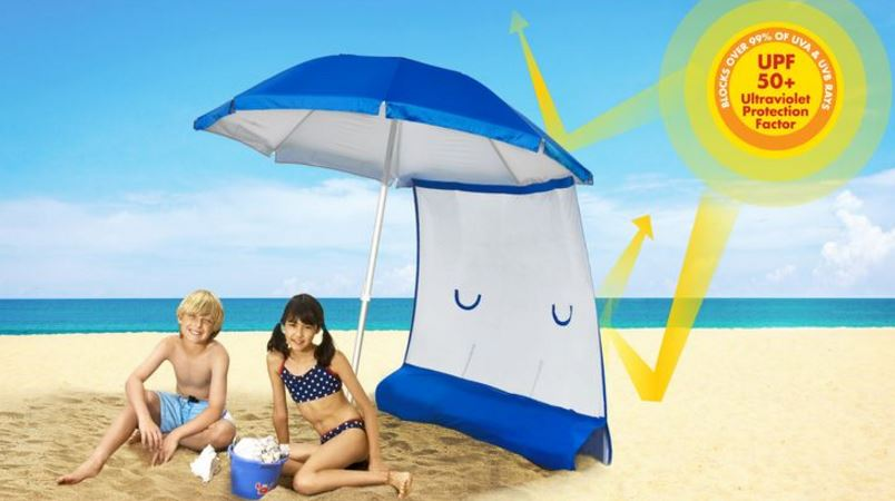 Sun Protection Beach Umbrella and Sunshield Combo