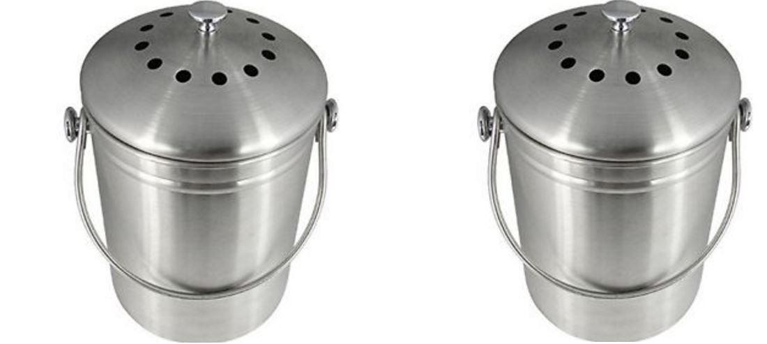 Utopia Kitchen Stainless Steel Composting Bin